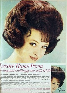 Decore home perm, 1963...Man did they smell and mine always came out frizzy