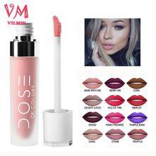 12 colori Cosmetici Professionali Dose di Colori Liquido Opaco Rossetto a lunga Durata Rossetto Impermeabile Lip Gloss Trucco(China (Mainland))