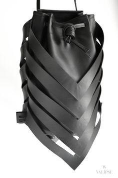 3-in-1 Black Vegan Leather Bag Convertible Backpack by VALIPSE Vegan Leather, Leather Bag, Convertible Backpack, Unique Bags, Minimal Fashion, Making Out, Bucket Bag, Crossbody Bag, Shoulder Bag