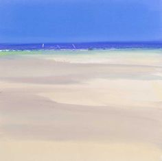 John Miller - Windsurfers, Porth Kidney Beach II - oil on paper Coconuts Beach, John Miller, Sea Colour, Cityscape Art, Water Photography, Windsurfing, Big Waves, Landscape Paintings, Things To Come