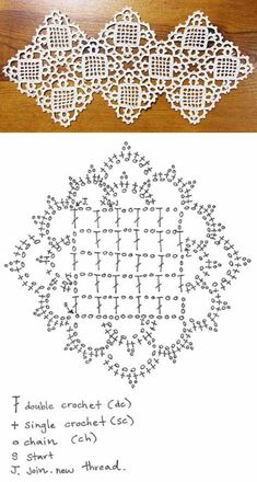Crochet Placemat Patterns, Crochet Bedspread Pattern, Crochet Snowflake Pattern, Crochet Doily Diagram, Crochet Flower Tutorial, Crochet Lace Edging, Crochet Blocks, Granny Square Crochet Pattern, Crochet Flower Patterns