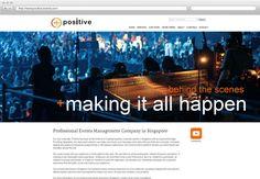 Positive Events Management Company, Event Management, Singapore, Behind The Scenes, Positivity, Events, Shit Happens, Website, Design