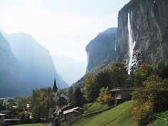 Lauterbrunnen- loved the walk behind the waterfall!