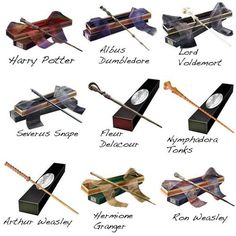 The wands of the Harry Potter cast.