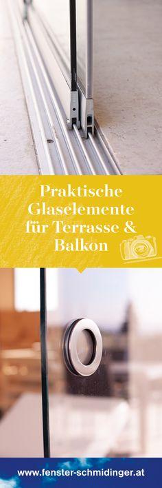 Praktische Glaselemente für Terrasse und Balkon! Die rahmenlosen Schiebewände sind die ideale Möglichkeit, wie du dein Poolhaus, Balkon oder die Terrasse verglasen kannst. Referenzen und viele tolle Fotos auf unserer Webseite! #Glaselemente #Terrasse #Balkon