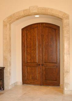Custom Built Wood French Doors Interior Exterior Arch