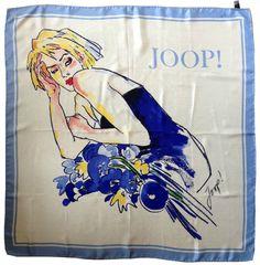 VINTAGE  SILK  1980's scarf from JOOP от SilkSistersVintage