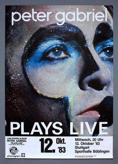 Peter Gabriel Genesis Mega Rare Original Germany 1983 Plays Live Concert Poster from $75.0