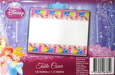 Disney Princess Plastic Party Tablecover / Tablecloth - 1.8 X 1.3m