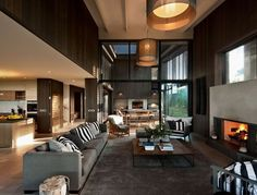 Adding the Dazzling Fireplace to Warm your Home Interior Design: Modern Fireplace With Rectangular Shape In The Living Room Modern Fireplace, Living Room With Fireplace, Fireplace Design, Fireplace Ideas, Tiled Fireplace, Simple Fireplace, Fireplace Mantel, Apartment Decoration, Family Room Design