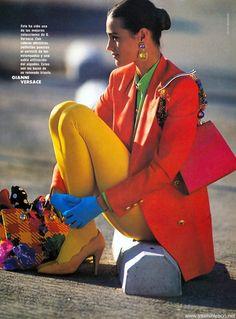 Esplendidamente Italia, Elle Spain, March 1991Photographer: Gilles BensimonModel: Yasmin Le Bon