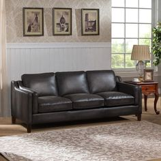 Marvelous Shop For Ames Premium Hand Rubbed Grey Top Grain Leather Sofa And Chair.  Get Free