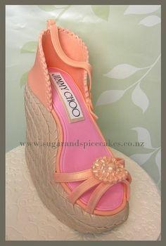 Jimmy Choo Wedge Shoe Cake