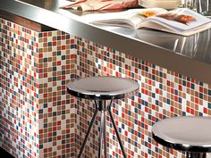 Carrelage mural adh sif cuisine on pinterest smart - Revetement mural cuisine credence ...