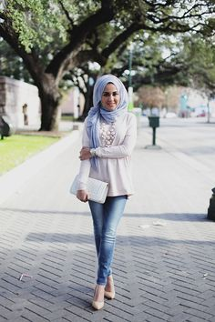 stylish & beautiful street hijab fashion for girls (6)
