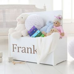 Personalised Toy Chest - new in home for Boys Nursery