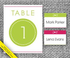 Printable Wedding Place Cards Table Cards  Pink by PrintableJoanie, $25.00