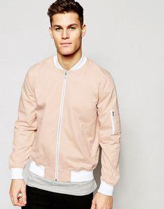ASOS+Bomber+Jacket+in+Pink