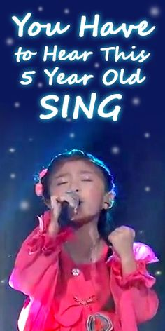 """You Have to Hear This 5 Year Old Sing """"You Raise Me Up""""."""