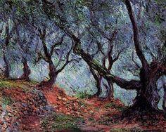 Claude Monet Trees   Grove of Olive Trees in Bordighera