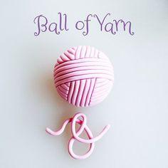 Ball of Yarn Birthday Cake For Papa, Birthday Cake Toppers, Fondant Toppers, Fondant Cupcakes, Cupcake Toppers, Cake Decorating Techniques, Cake Decorating Tutorials, Knitting Cake, Sewing Cake