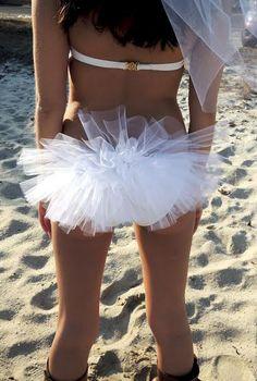 Bachelorette Bikini Veil with Flower Diamond by SinfulSweetsNJ, $35.00