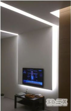 plasterboard wall designs with LED lighting comprehensive catalogue of modern gypsum board designs for false ceiling designs and walls in living rooms, bedrooms, kid& rooms and hallways Gypsum Board Design, Plasterboard Wall, False Ceiling Design, Wall Design, Kids Room, Boards, Led, Hallways, Living Rooms