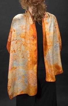 Mary Lamb Nehring - orange scarf