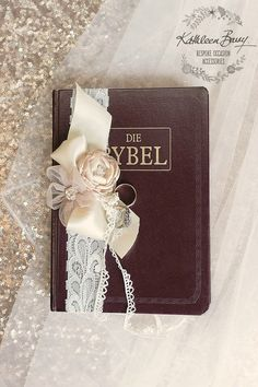 R350 Bible ring bearer decor - Bridal wedding day accessories - ring pillow - bible decor for wedding ceremony - Blush pink - repinned by Los Angeles wedding officiant https://OfficiantGuy.com