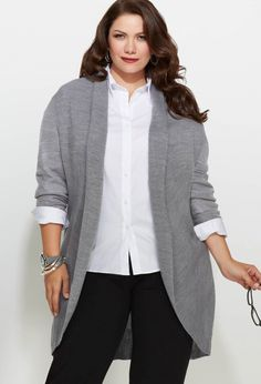 Plus Size Long Shawl Collar Cardigan | Plus Size Sweaters & Cardigans | Avenue