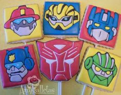 rescue bots birthday cake   rescue bot cakes   Transformers Cookies (Rescue Bots)