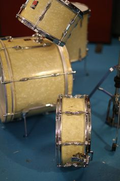 Premier Kick & Rack Tom with Snare on its side