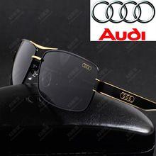 2ecca376e0f73 Autêntico luxo marca Audi revestimento óculos polarizados para homens óculos  De aviador óculos De Sol óculos