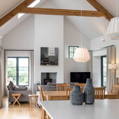 Marlacoo House, Co. Armagh — Paul McAlister Sustainable and Passive House Architects - Portadown, Belfast, Northern Ireland House Designs Ireland, Open Plan Kitchen Dining Living, Big Kitchen, Kitchen Room Design, Kitchen Layout, Kitchen Interior, Room Interior, Bungalow Exterior, Cottage Renovation