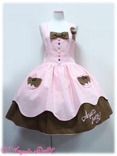 angelic pretty Sweetワッフルジャンパースカート