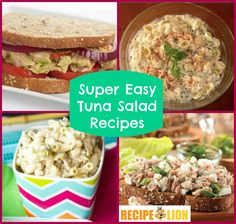 14 Super Easy Tuna Salad Recipes | Whether you make them into tuna salad sandwiches or eat them by themselves, you're bound to love these recipes for tuna salad.