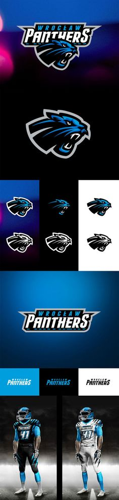 """""""Panthers Wroclaw"""" - Awesome Sports Logo Designs by Kamil Doliwa   iBrandStudio"""