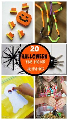 Halloween Fine Motor Activities - fun Halloween ideas that work on fine motor skills.