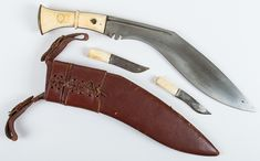 An Early to Mid-20th Century  Ivory-handled Kukri