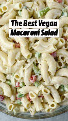 Vegan Noodles Recipes, Vegan Recipes Easy, Whole Food Recipes, Vegetarian Recipes, Best Macaroni Salad, Vegan Meal Plans, Vegan Appetizers, Pasta Dishes, Casserole Recipes