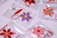 Martisoare Handmade 2018 Quilling - Circul Magic Quilling Flowers, Paper Flowers Diy, Diy Paper, Flower Diy, Diy Projects To Try, Favors, Magic, Presents, Guest Gifts