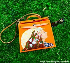 Heart Evangelista's art painting on Hermes bag. Customized work. Fab!