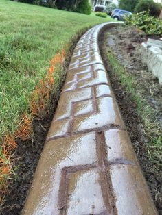 Concrete Edging Sioux Falls Sd Trained In Decorative Overlays Acid Stai Curb Eal Curbing Borders