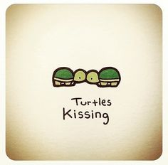 Make one special photo charms for your pets, compatible with your Pandora bracelets. Turtles kissing *to put on bottom back of all wedding send-outs (save the date, invites, thank yous), maybe on sign somehow small incorporated into the rest Cute Turtle Drawings, Animal Drawings, Tiny Turtle, Turtle Love, Pet Turtle, Cute Turtles, Baby Turtles, Kawaii Drawings, Easy Drawings