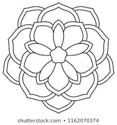 Ornamental round doodle flower isolated on white background. Flower Art Drawing, Mandala Drawing, Mandala Art, Mosaic Patterns, Embroidery Patterns, Flower Doodles, Doodle Flowers, Simple Mandala, Geometric Circle