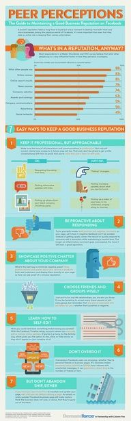 The Guide to Maintaining a Good Business Reputation on Facebook #socialmedia #infographic #infographics