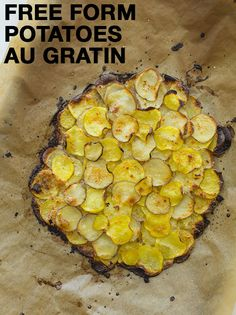 free form potatoes au gratin