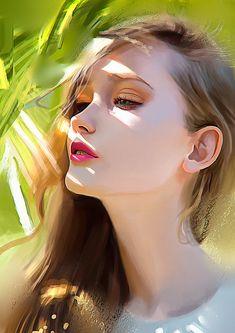 Color study portrait, Carlos Alberto on ArtStation at https://www.artstation.com/artwork/color-study-portrait