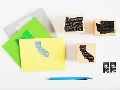 Home State Personalized Return Address Stamp / Paper Pastries: Confections for your Correspondence
