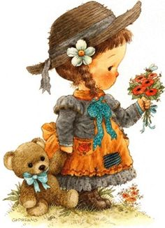 ❤️Artist Greg Giordano (From my friend DD❤️) Vintage Cards, Vintage Postcards, Cute Images, Cute Pictures, Vintage Pictures, Beautiful Pictures, Art Mignon, Holly Hobbie, Cute Illustration